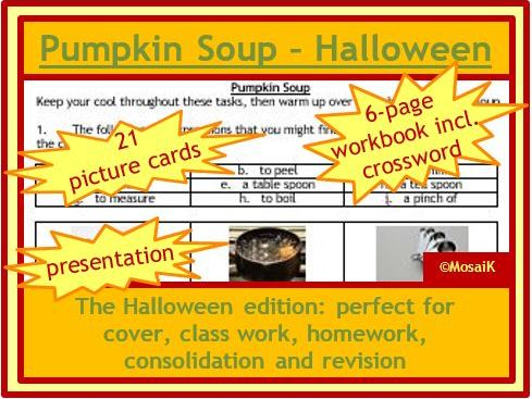 Food Tech, Cooking, Health, Food: Pumpkin Soup - The Halloween Edition