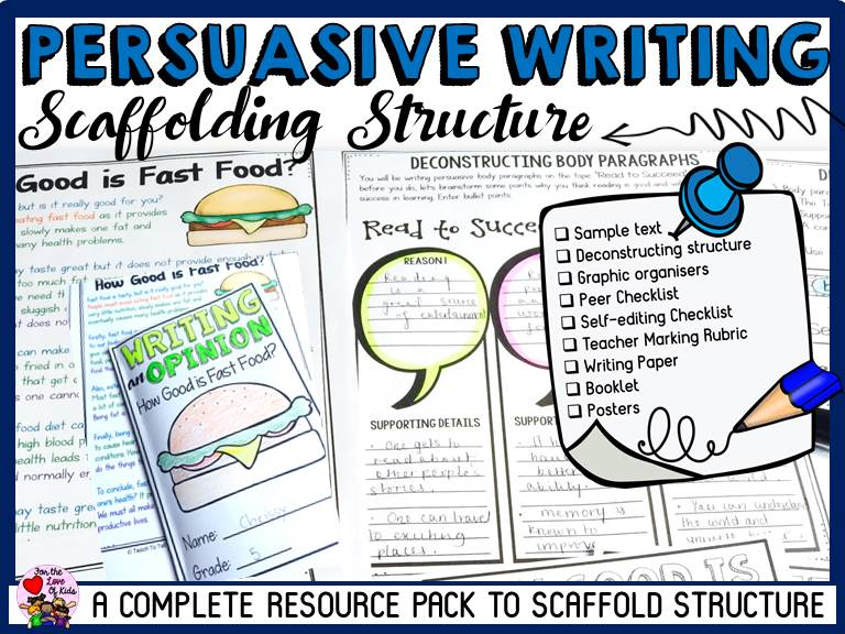 PERSUASIVE WRITING: SCAFFOLDING STRUTURE