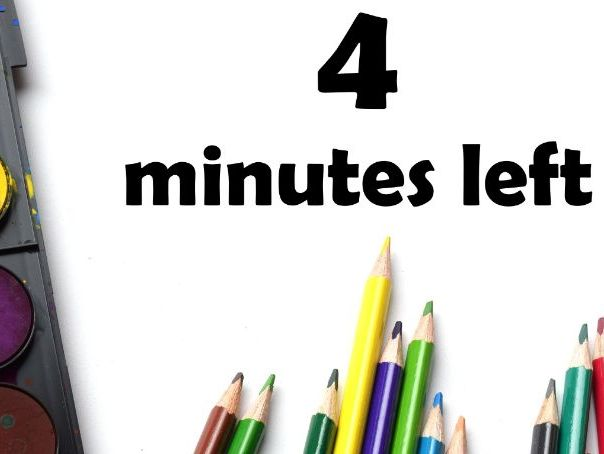 5 minute tidy up timer