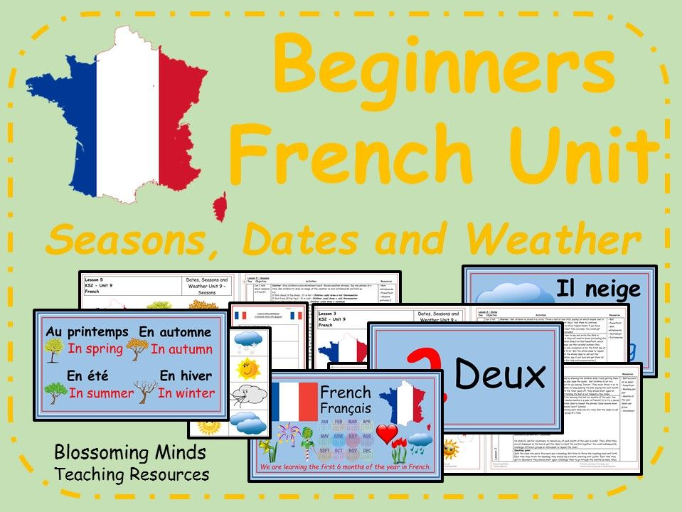KS2 French Unit - Seasons, Dates and Weather