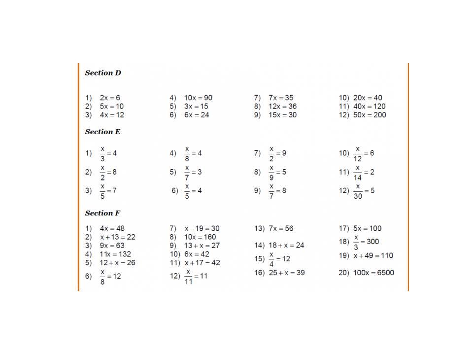 Algebra Worksheet -2