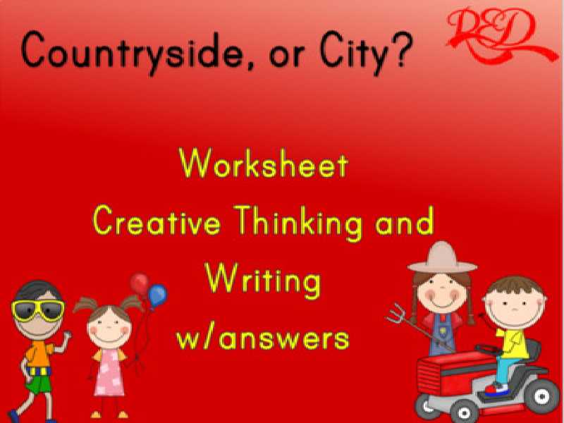 Countryside, or City? FREE worksheet