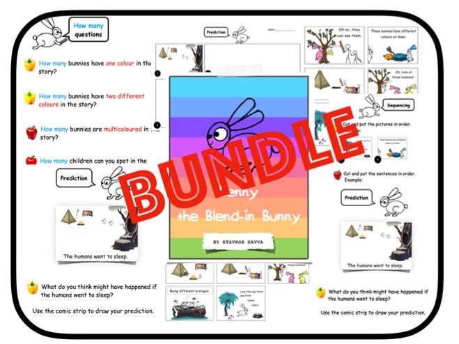Home Learning: Benny the Blend-In Bunny - Book + Activities (KS1)