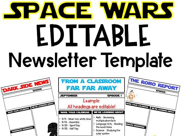 Space Wars Newsletter Template