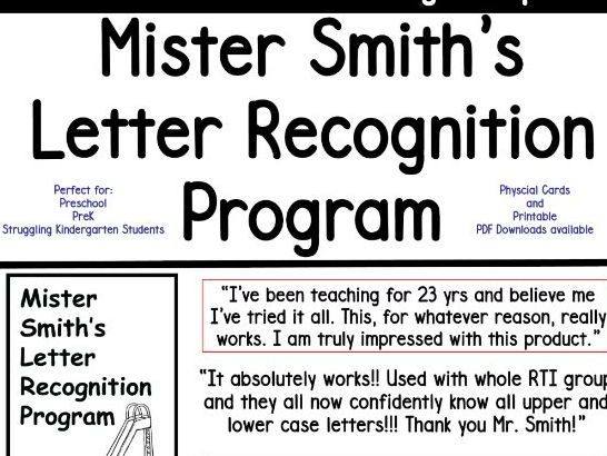 Mister Smith's Letter Recognition Program (flashcards-uppercase)