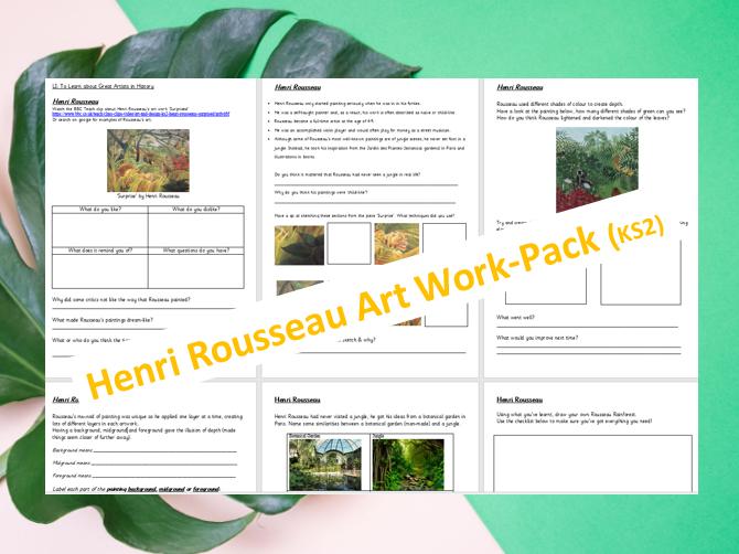 Henri Rousseau Art Work Pack KS2
