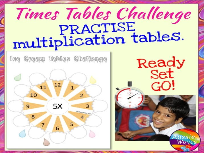 Times Tables Maths Activity Ice Cream Challenge