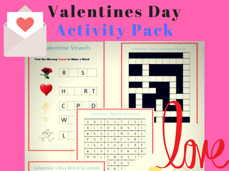 Valentine's Day Activity Pack - ESOL ESL English Vocabulary