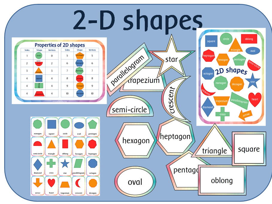 2D shapes activity and display pack for KS1 Maths