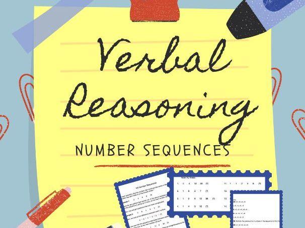 11+ Verbal Reasoning - Number Sequences