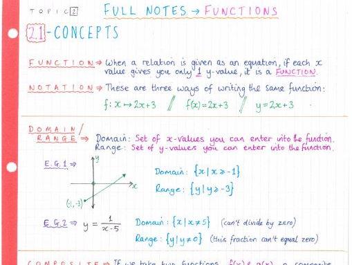 IB Maths Studies SL - Topic 4 - Statistical Applications - Notes