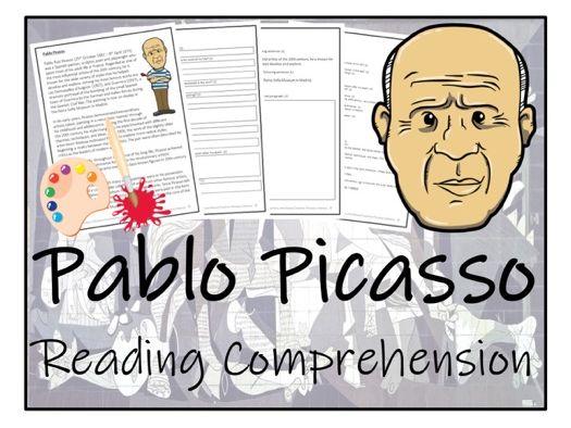 UKS2 Literacy - Pablo Picasso Reading Comprehension Activity