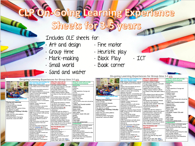 Assessment Posters for EYFS 3-5 - On-Going Learning Experiences