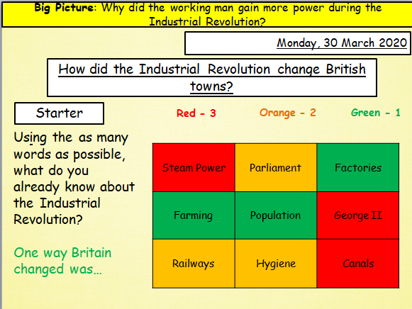 Industrial Revolution KS3 Lesson