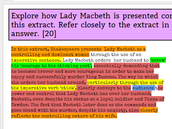 Lady Macbeth Revision Lesson - OFSTED OUTSTANDING