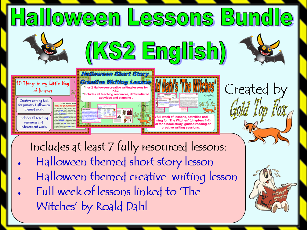 Halloween Lessons Bundle (KS2 English)