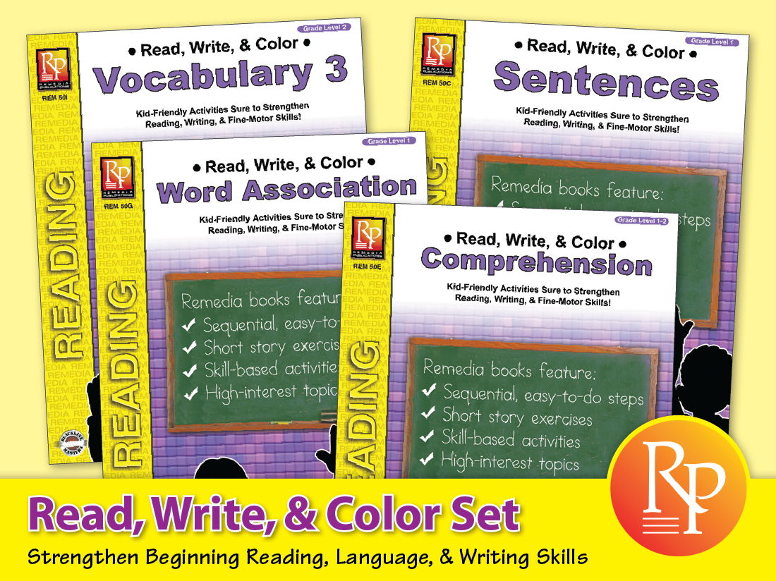 Read, Write, & Color Set