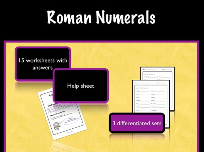 KS2 Maths. Roman Numerals- Differentiated Worksheets by ...