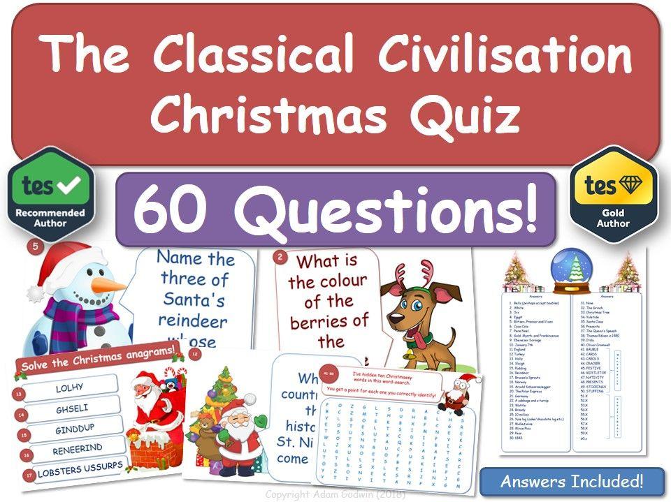 Classical Civilisation  Christmas Quiz!