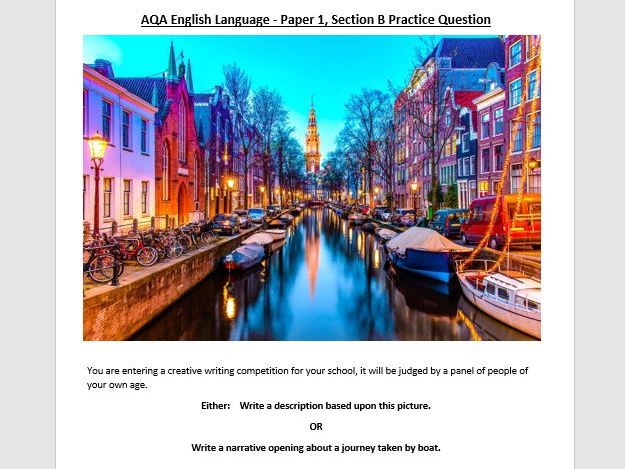 AQA English Language Paper 1 - Section B practice exams by ...