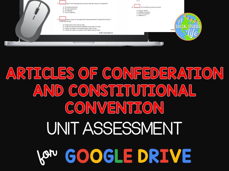 Articles of Confederation Unit Test