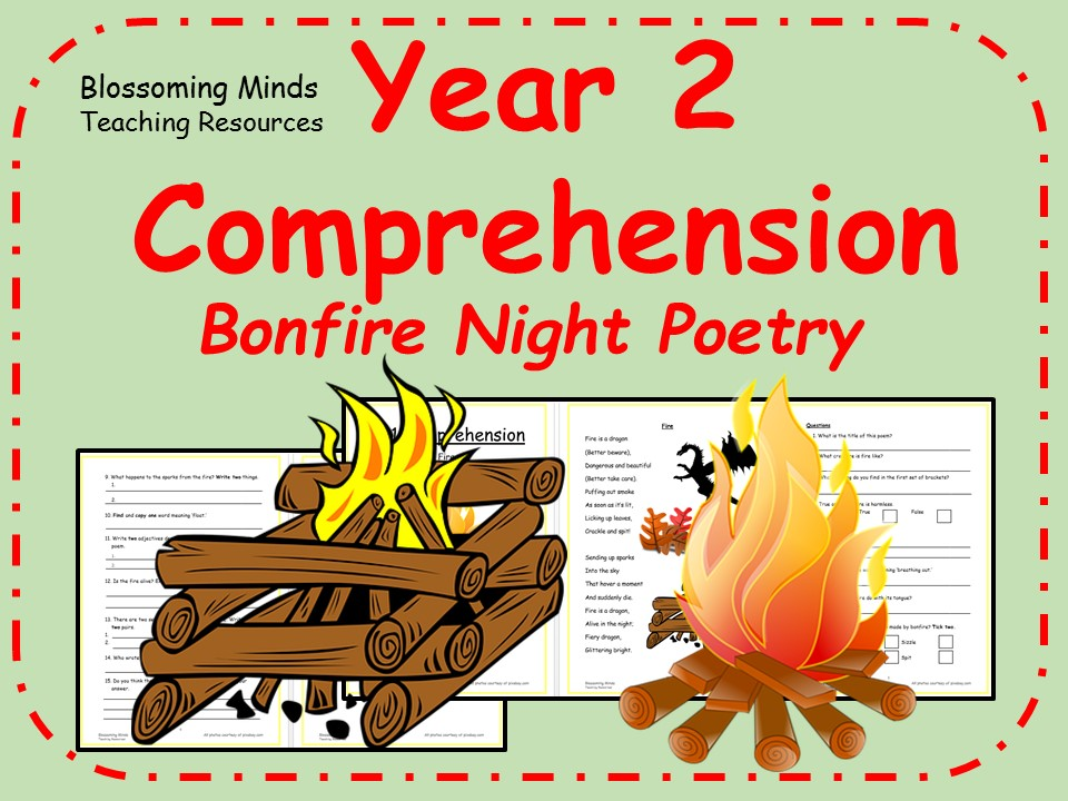Year 2 poetry comprehension - Bonfire Night