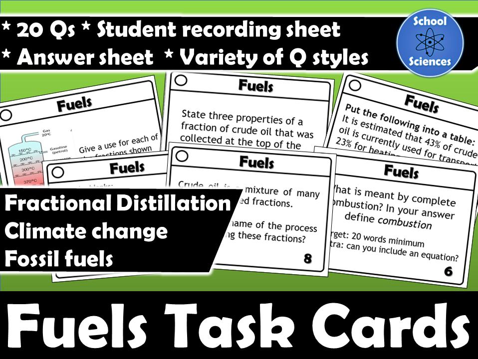 Fuels task cards