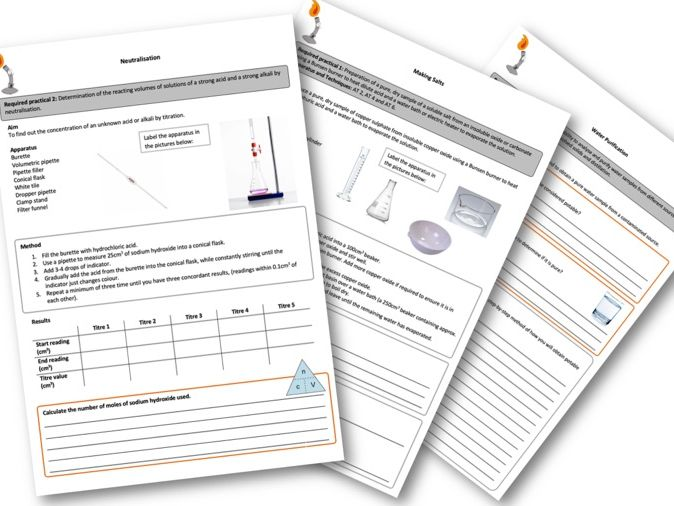 AQA Chemistry Required Practicals Worksheets