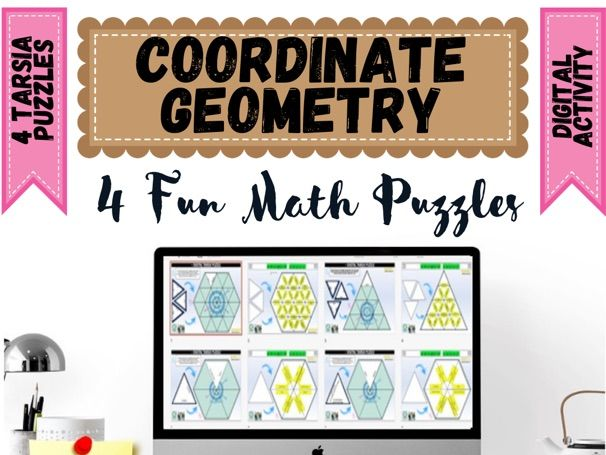 Coordinate Geometry and measurement  Digital Puzzles