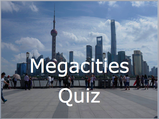 Megacities quiz, a brilliant quiz consisting of 20 slides