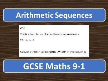 GCSE Maths 9-1 Arithmetic Sequences Exam Questions
