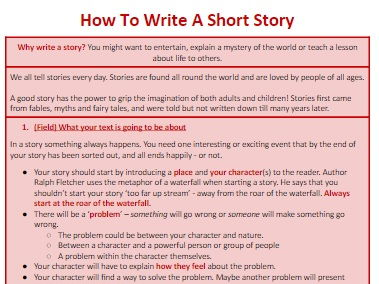 Genre-Booklets 'How To Write Stories' PACK
