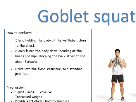 Kettlebell training resource cards