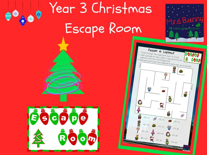 Christmas Maths Escape Room