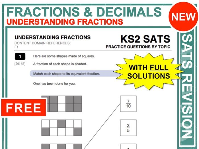 SATs Revision (Understanding Fractions)