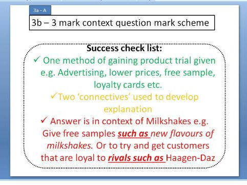 Product trial and repeat purchase - GCSE Business