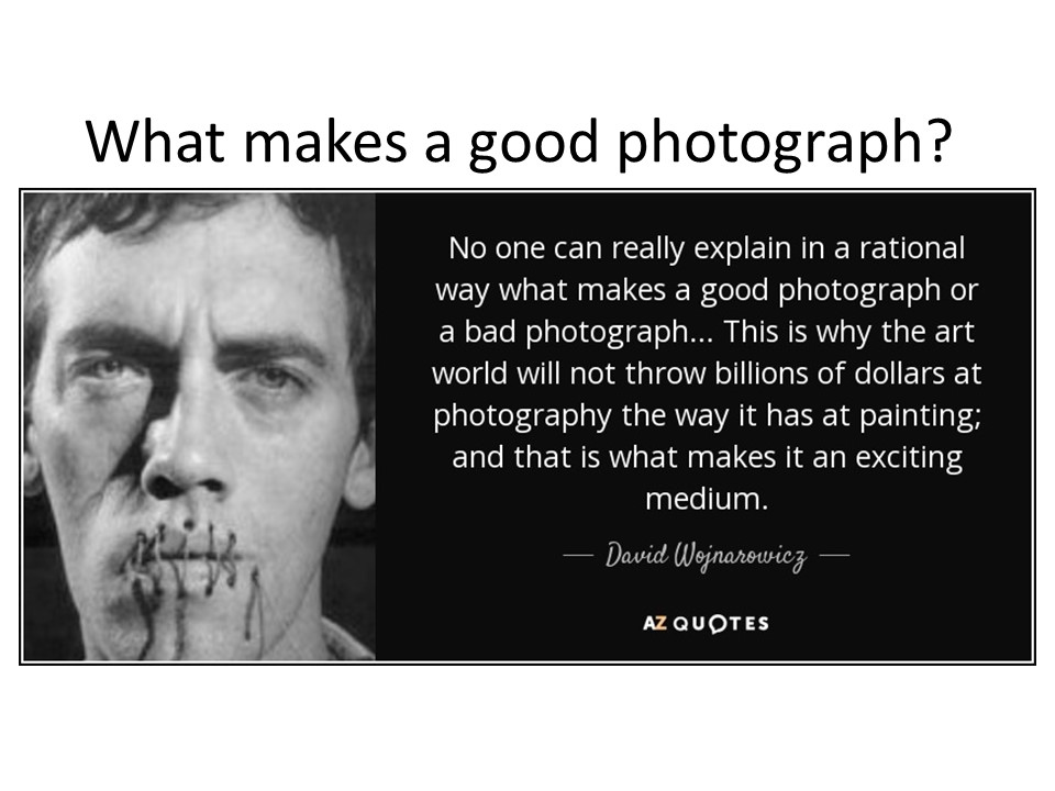 What makes a good photograph