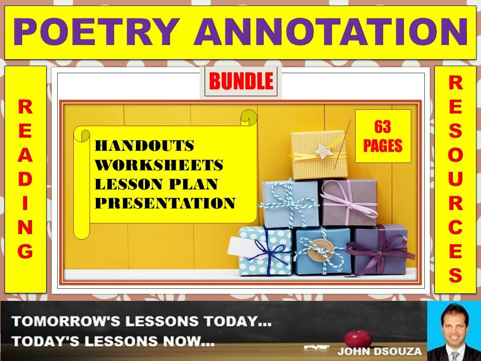 POETRY ANNOTATION BUNDLE