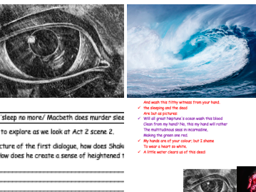 GCSE Literature Revision Macbeth act 2 scene 2 analysis of scene's language and key imagery