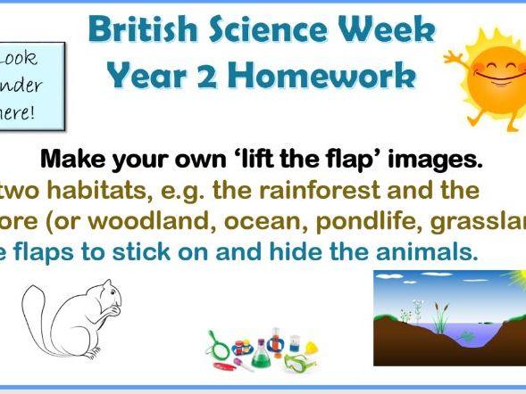 British Science Week 2018 Homework Tasks KS1