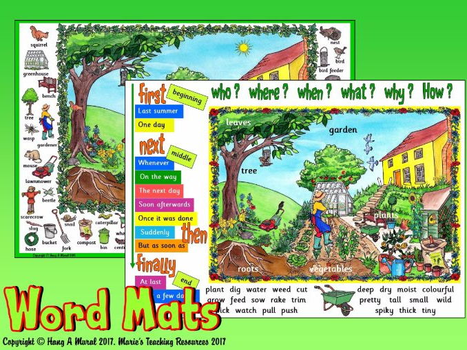Growing Plants / Garden / Minibeasts - Word Mats
