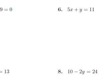 Slope-intercept form of a linear equation worksheets (with solutions)