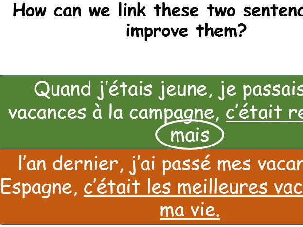 GCSE French how to choose between perfect and imperfect