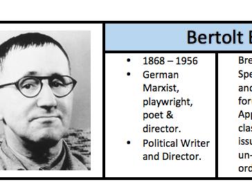 Bertolt Brecht - Handout / Revision Guide