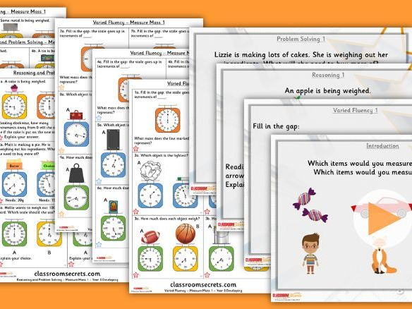 FREE Year 3 Measure Mass 1 Summer Block 4 Step 1 Lesson Pack