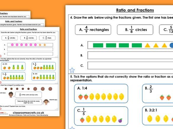Year 6 Ratio and Fractions Spring Block 6 Maths Homework Extension