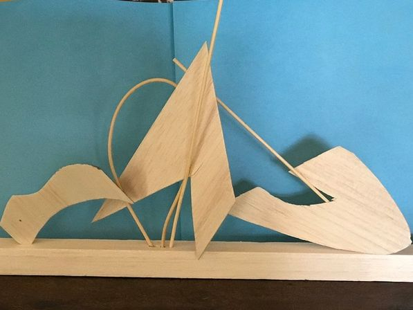 CALDER INSPIRED ABSTRACT SCULPTURE