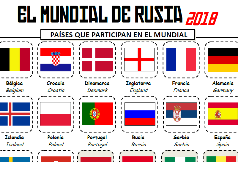 Russia World Cup 2018 / Booklet of activities for Spanish