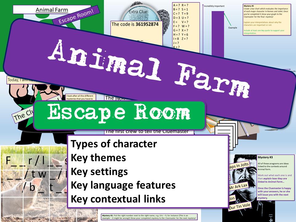 Animal Farm Escape Room