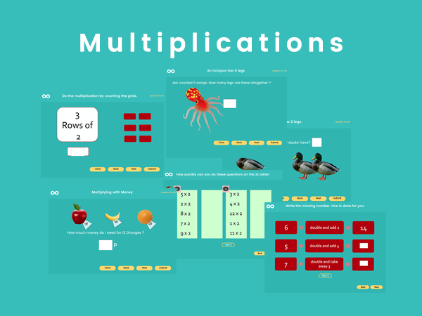 Multiplications - Year 2, Key stage 1